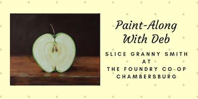 Treat Yourself Tuesday Paint-Along - Slice Granny Smith Apple