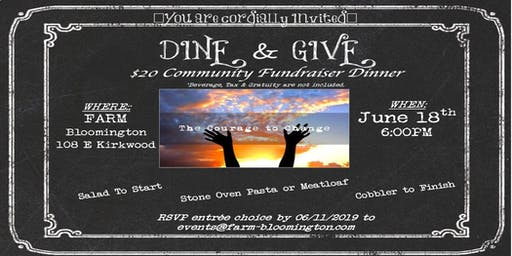 Dine and Give Courage to Change Sober Living Community Fundraiser Dinner