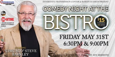 "Comedy Night At The Bistro Starring ""Chicago"" Steve Barkley"