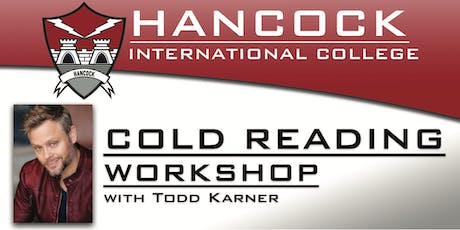 Cold Reading Workshop with Todd Karner tickets