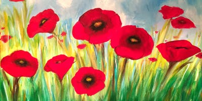 """Popping Poppies"" Painting"