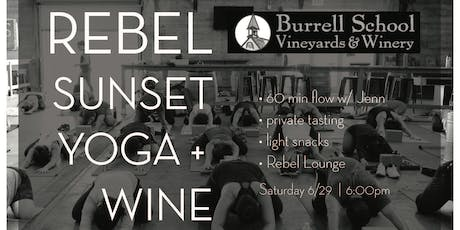Rebel Sunset Yoga + Wine tickets