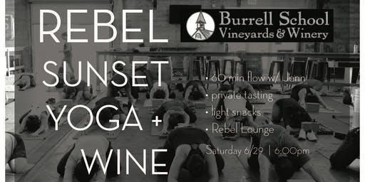 Rebel Sunset Yoga + Wine