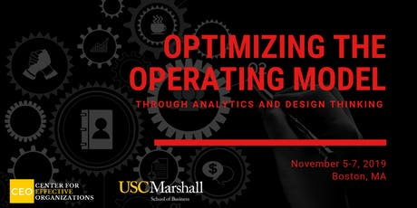 Optimizing the Operating Model through Analytics and Design Thinking, November 2019 tickets