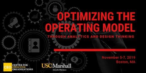 Optimizing the Operating Model through Analytics and Design Thinking, November 2019