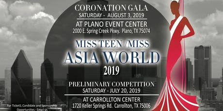 Miss Teen and Miss Asia World 2019-2021 tickets