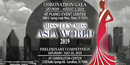 Miss Teen and Miss Asia World 2019-2021