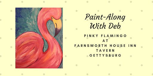 Pinky Flamingo Paint-Along - Farnsworth House Inn Tavern