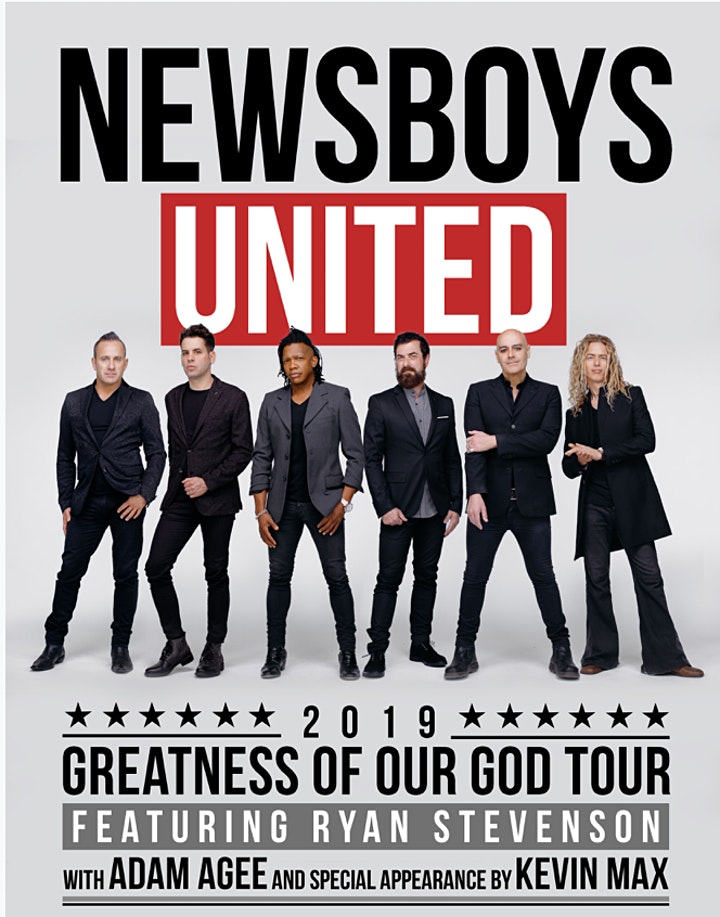 NEWSBOYS UNITED GREATNESS OF OUR GOD FALL TOUR image