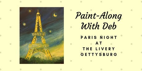 Paris Night - The Livery Paint-Along tickets