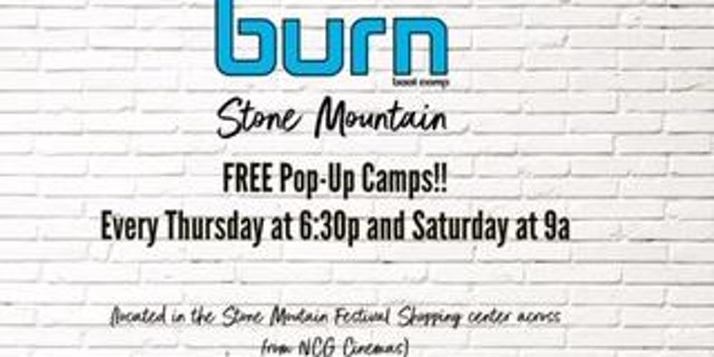Free Burn Boot Camp Pop Up Workout Camps Tickets Multiple Dates