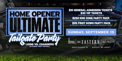 Lions Ultimate Home Opener Tailgate Party