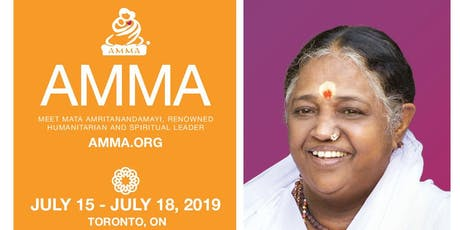 Meet Amma. Sri Mata Amritanandamayi Devi - humanitarian leader tickets