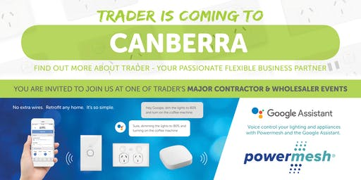 Trader is coming to CANBERRA!