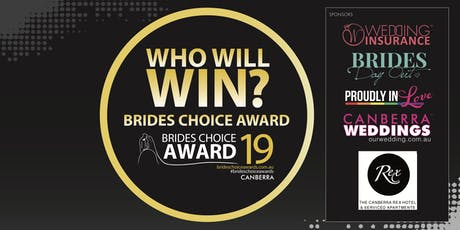 Canberra Brides Choice Awards Gala Cocktail Party 2019 tickets