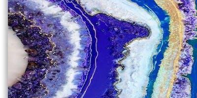 Resin Geode Canvas