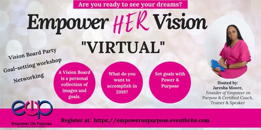 Networking Empower HER Vision Board Virtual Workshop - 2019
