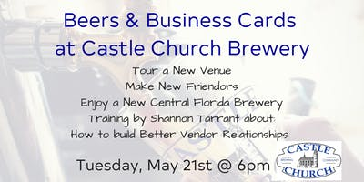 Castle Church Brewery Vendor Event - with guest speaker Shannon Tarrant