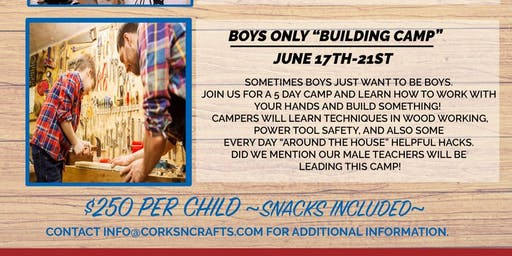 Kid's Summer Camp - Boys Building Camp