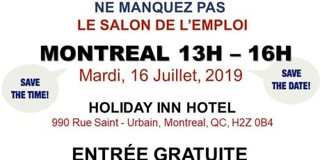 Montreal Job Fair – July 16th, 2019 tickets