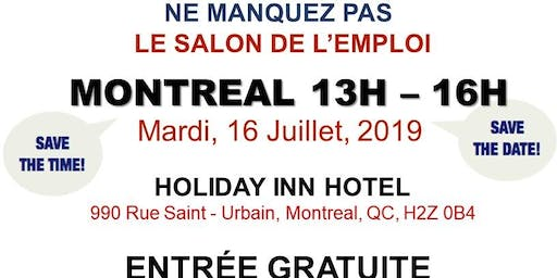 Montreal Job Fair – July 16th, 2019