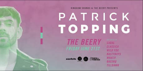Patrick Topping - The Beery tickets