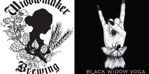 Metal Yoga with Black Widow Yoga at Widowmaker Brewing