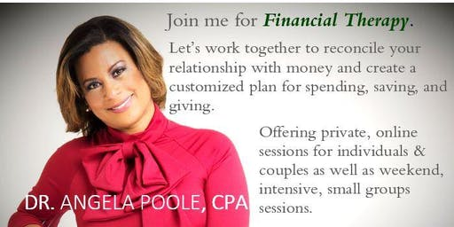 Online, Private Financial Therapy with Dr. Angela Poole, CPA