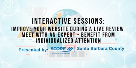 Improve Your Website During a Live Review Meet with an Expert tickets
