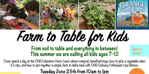 Farm to Table For Kids