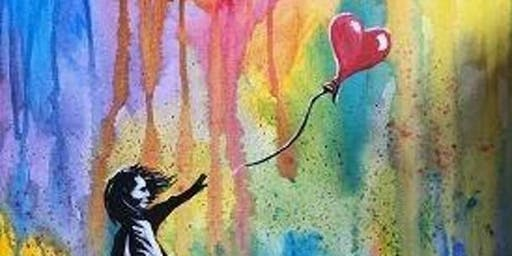Sad Balloon Girl - Brisbane