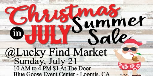 Christmas in July at Lucky Find Market