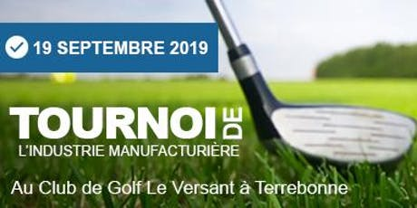 REAI : Tournoi de Golf de l'Industrie Manufacturière 2019 tickets