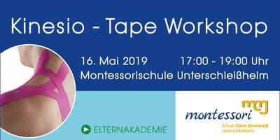 Kinesio Tape Workshop Montessori Schule Unterschleissheim