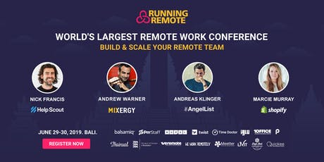 Running Remote 2019 - The Largest Remote Work Conference tickets