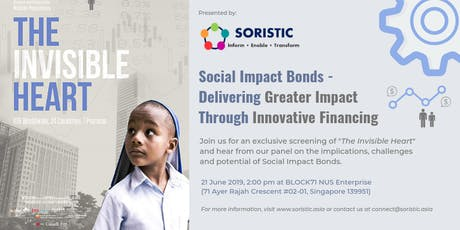 The Invisible Heart (Social Impact Bonds - Delivering Greater Impact through Innovative Financing) tickets