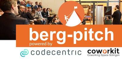 6. BERG-PITCH - Das Startup-Event im Bergischen Land - 25.06.19