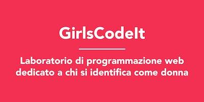 GirlsCodeIt: Laboratorio di programmazione web dedicato a chi si identifica come donna