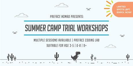 2019 Summer Coding Camp Trial Workshop | Preface Nomad tickets