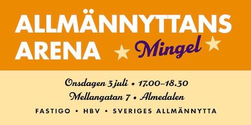 Mingel på Allmännyttans arena i Almedalen