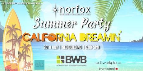 Norfox Summer Party 2019 | California Dreamin' tickets