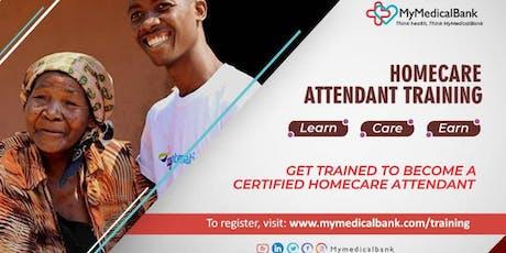 MyMedicalBank Home Care Attendant (HCA) Training tickets