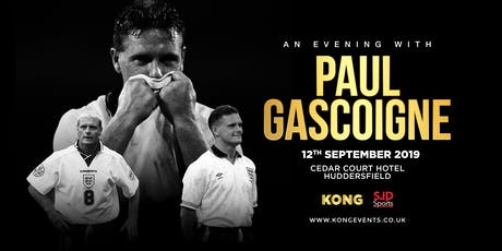 "An Evening with Paul "" Gazza"" Gascoigne Huddersfield tickets"