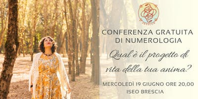 Conferenza Gratuita Numerologia Iseo -BS-