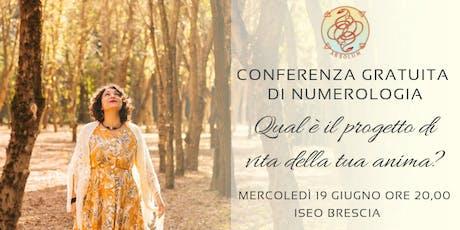 Conferenza Gratuita Numerologia Iseo -BS- biglietti
