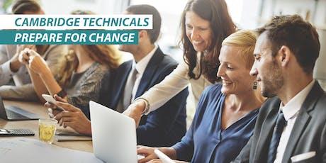 Cambridge Technicals - Prepare for change, Leeds, AM tickets