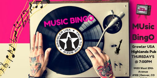 MUsic BingO at Growler USA HighlandS Pub