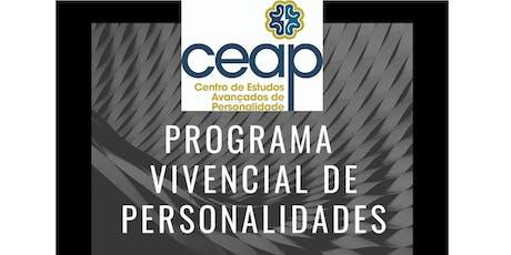Programa Vivencial de Personalidades ingressos