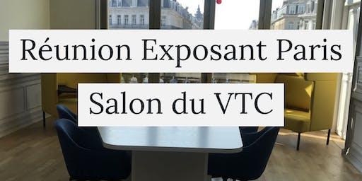 Reunion d'information Exposant salon du VTC Paris