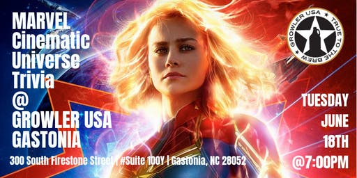 Marvel Cinematic Universe Trivia @ Growler USA Gastonia